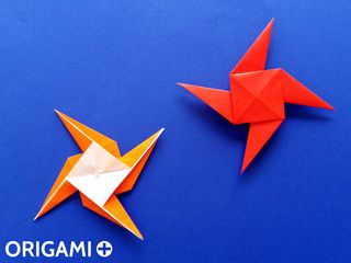 Etoile de Ninja en origami