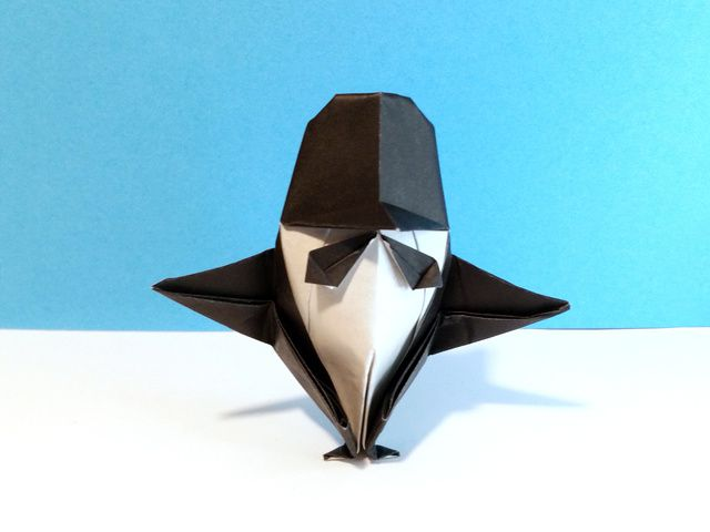 Penguin in a Tuxedo - step 1