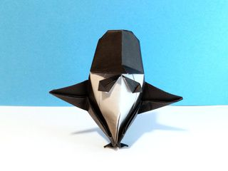 Pingouin en Smoking en origami