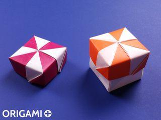 Boite Moulin à Vent en origami