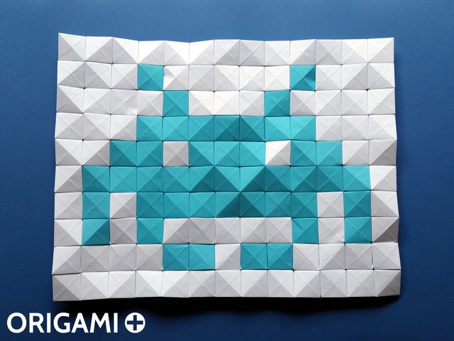 Pixel Unit for Origami Mosaics - step 2