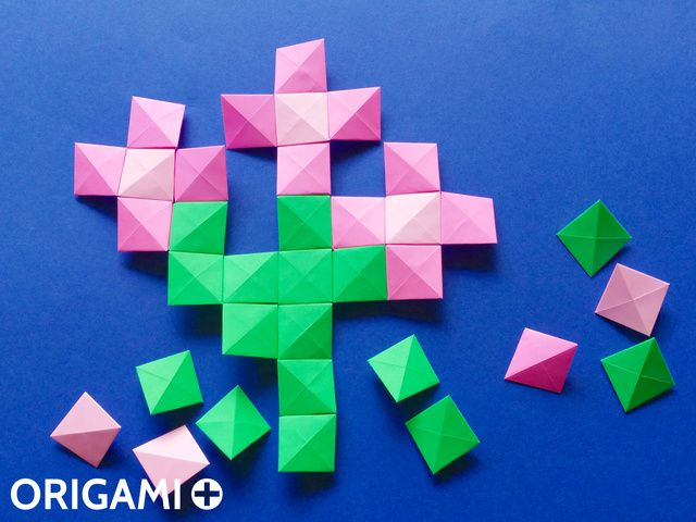 Pixel Unit for Origami Mosaics - step 4