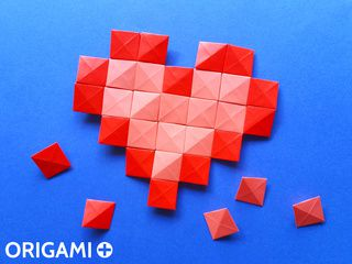 Origami Pixel Unit for Origami Mosaics