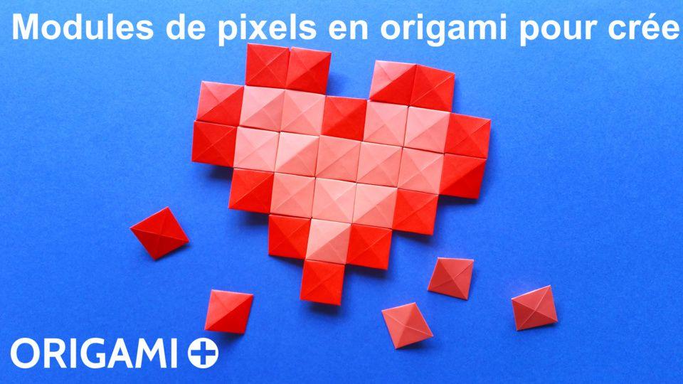 Modules de pixels en origami pour créer des mosaïques