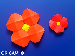 Fleur de Pixels en origami