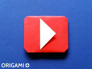 Icône Play en origami