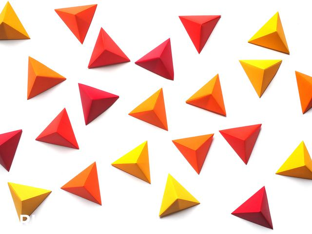 Pyramid Pixels for 3D Paper Wall Art - step 1