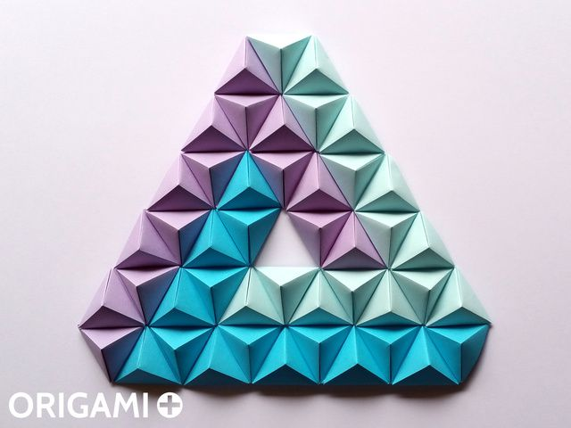 Pyramid Pixels for 3D Paper Wall Art - step 3