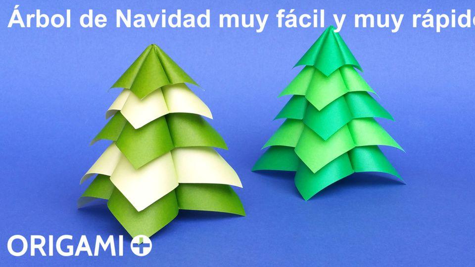 Árbol de Navidad muy fácil y muy rápido