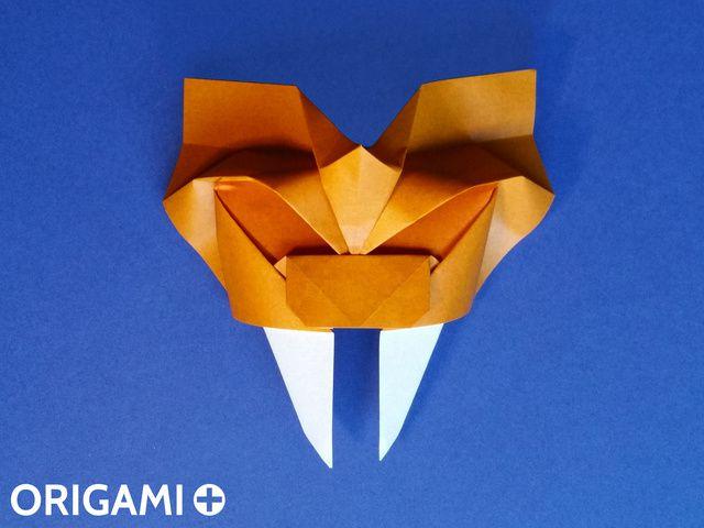 Saber-Toothed Tiger Mask - step 1