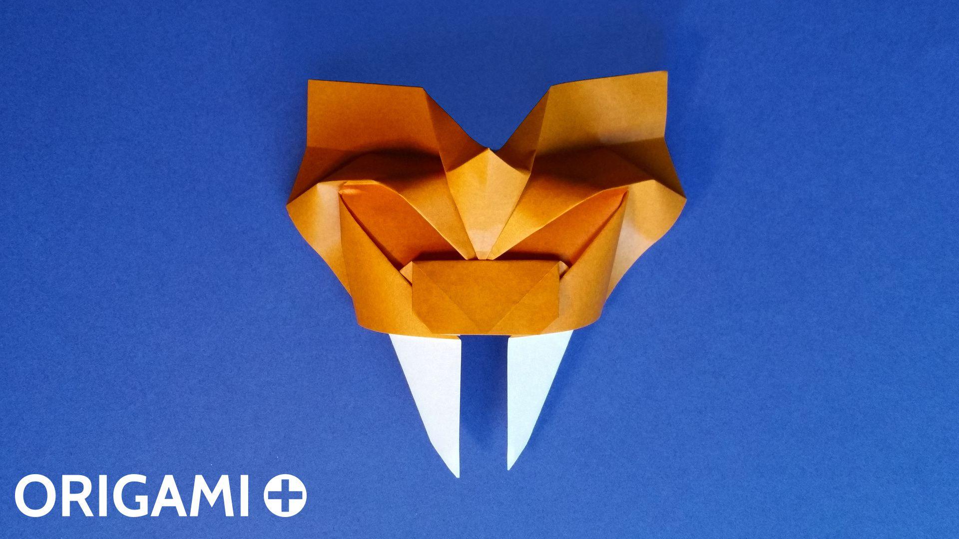 Origami Saber Toothed Tiger Mask