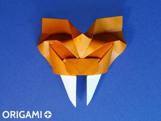 Origami Saber-Toothed Tiger Mask