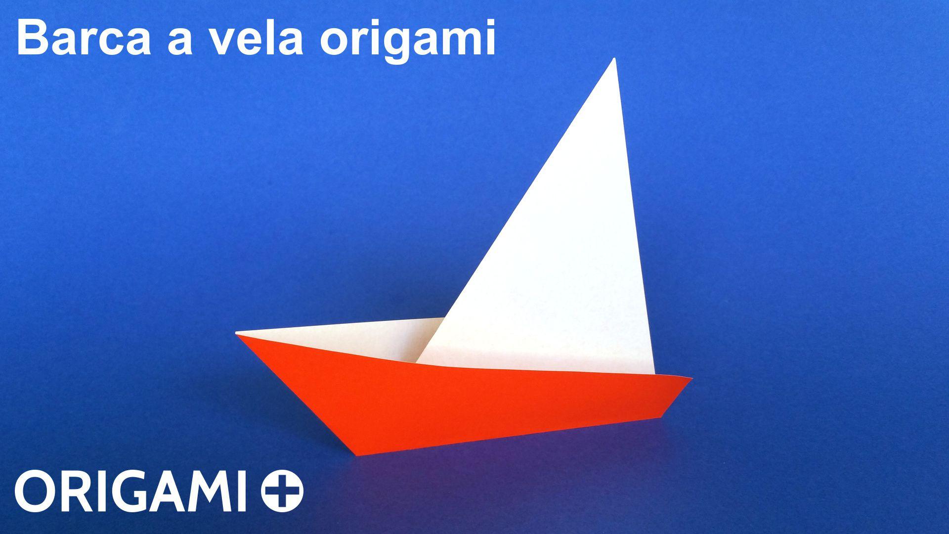Barca a vela origami