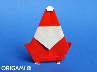 Papá Noel en origami