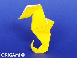 Hippocampe en origami