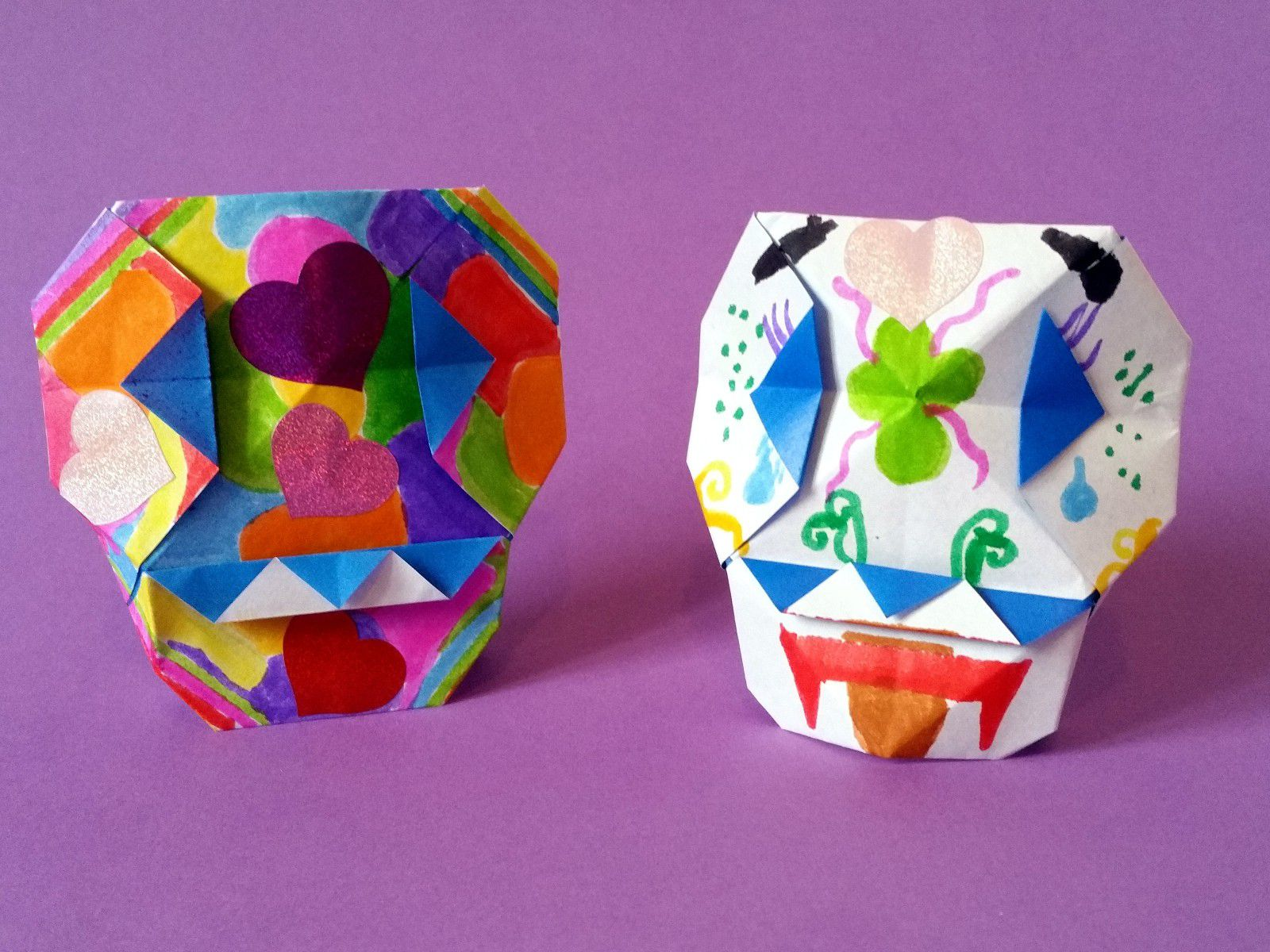 Papercraft Skull With Glowing Eyes : 15 Steps (with Pictures ... | 1200x1600