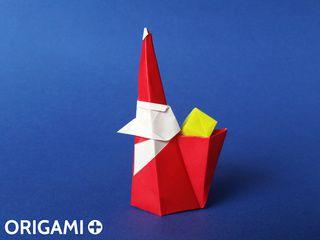 Origami Smiling Santa Claus