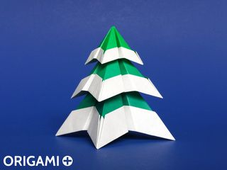Origami Snowy Christmas Tree