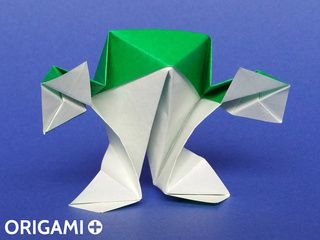 Grenouille debout en origami