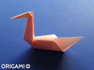 Cisne en origami