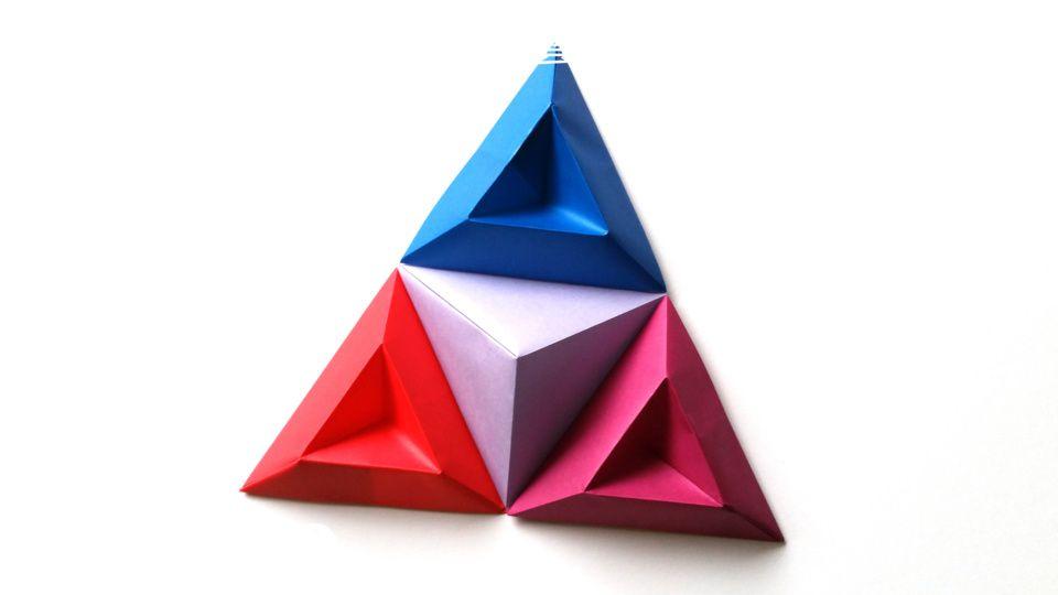 立體三角形3D牆壁紙藝術