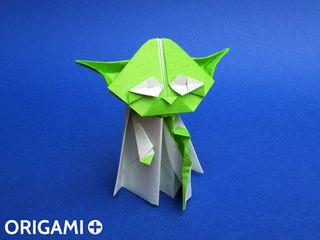 Maestro Yoda en origami