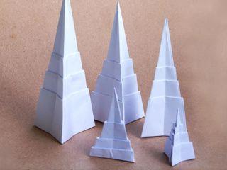 Origami Pyramid Trees