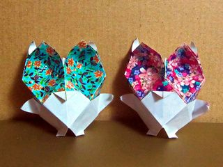 A couple of very cute origami baby owls