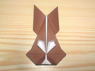 Origami Chocolate Easter Bunny