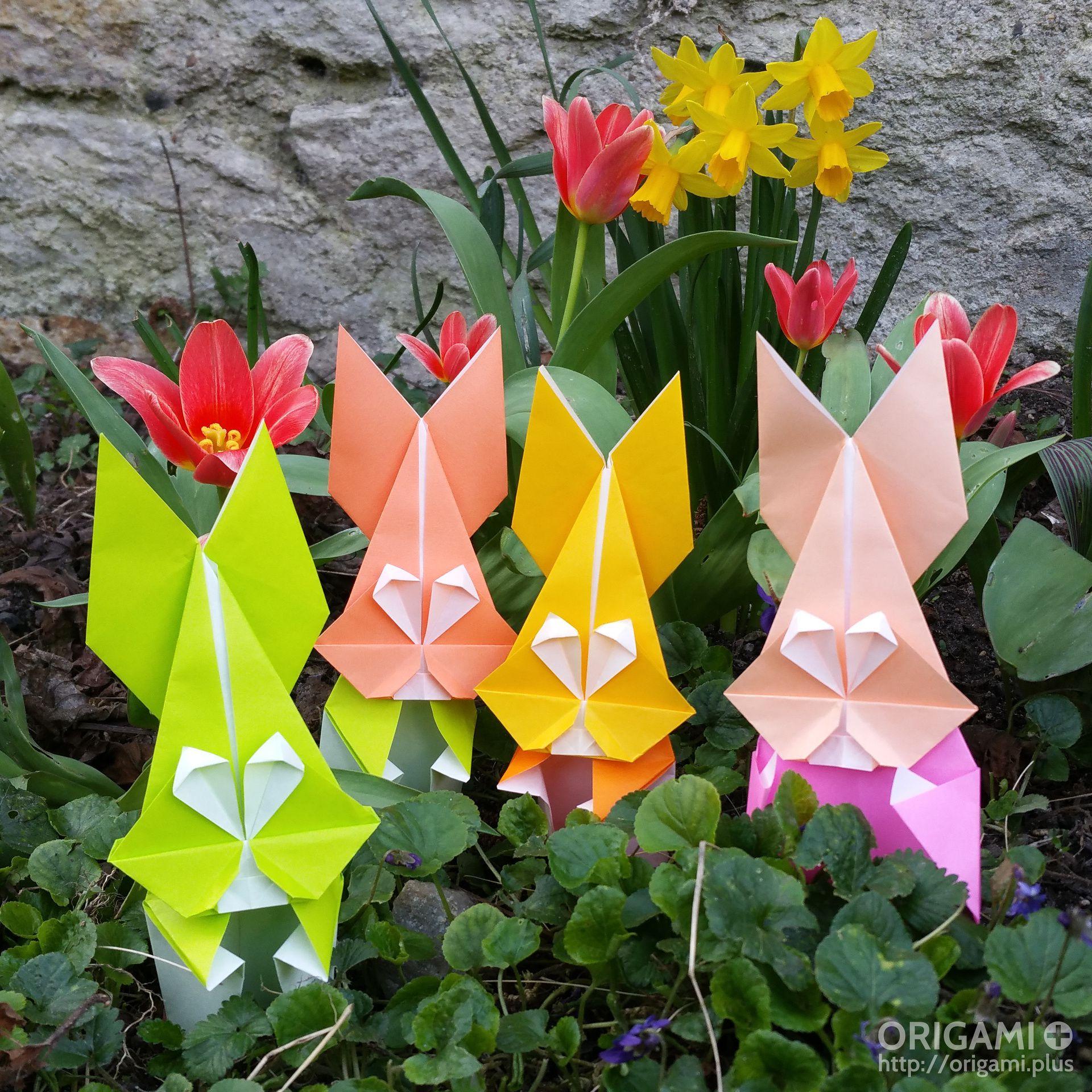 Origami Bunnies in the Garden - photo#32