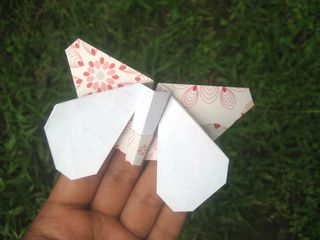 Origami Butterfly ready to take off