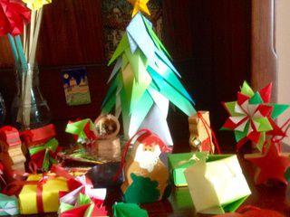 Origami Christmas Tree and Origami Ornaments by Natalia Beccerra Cano