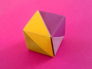 A Lovely Origami Cube Box by Corinne Beaubeau
