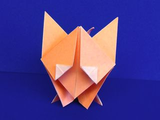Who can resist the look of this cute origami fox?