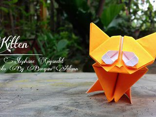 Origami Kitten in Indonesia