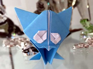 Adorable origam kitten