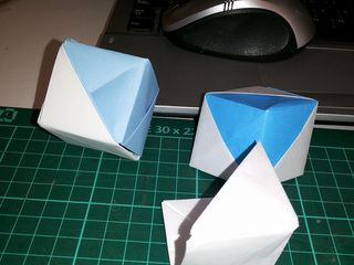 Argentina Origami Flag Box by Mimi Rossi Grabois