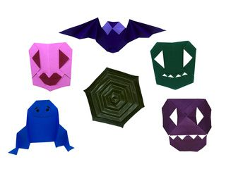 Halloween Origami Models folded by Russell Wood