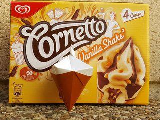 A Yummy Vanilla Origami Ice Cream Cone