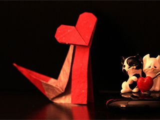 Lovely Origami Love Cat