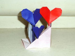 Two Origami Lovers Together