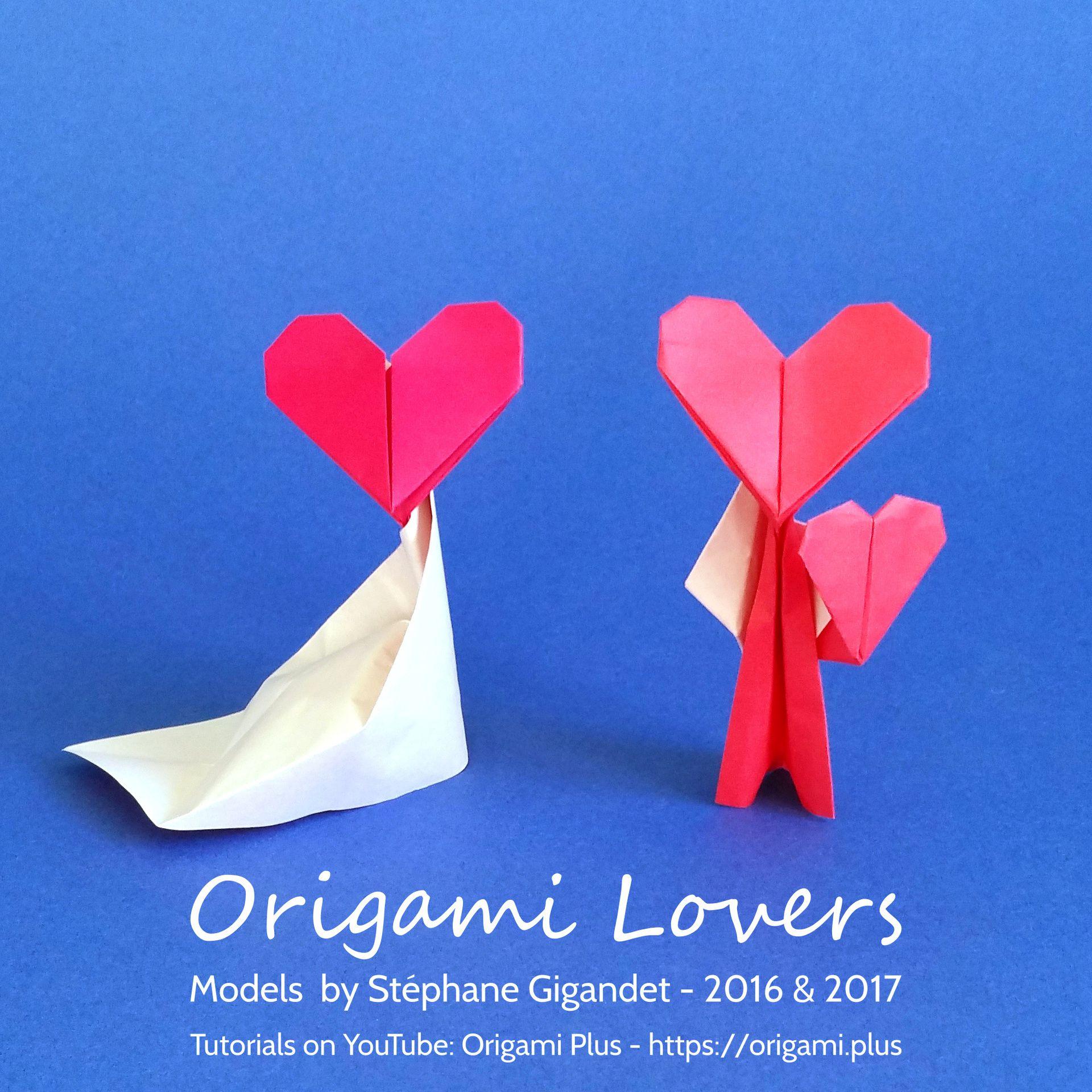 Origami love lady a couple of origami lovers jeuxipadfo Choice Image