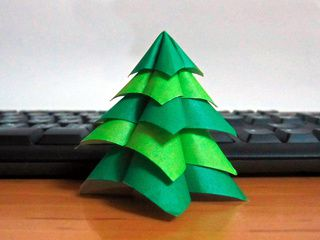 Tiny Chistmas Origami Tree