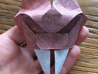 Origami Saber Toothed Tiger Mask by Sander Jacobs