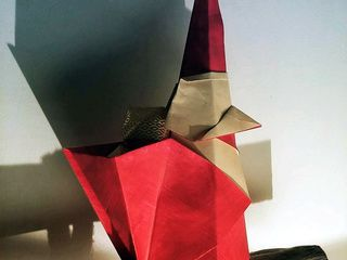 Origami Smiling Santa Claus by Origami Invasion