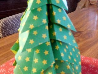 Starry Origami Christmas Tree