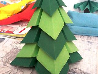 Beautiful Origami Christmas Tree