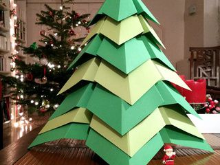 Giant Origami Christmas Tree