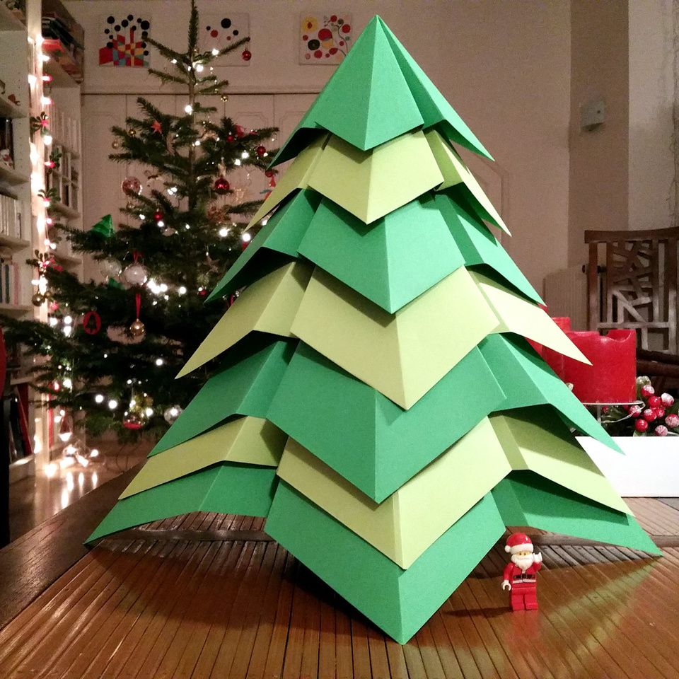 giant origami christmas tree