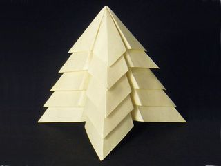 Ivory Origami Christmas Tree